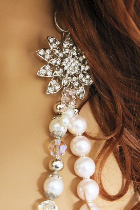 Pearl Bridal Statement Necklace - product images  of