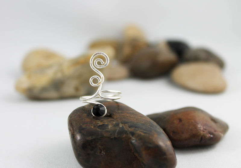 Silver WIre Wrapped Ring TRS104 - product images  of