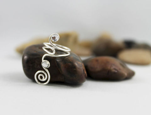 Spiral,Swirl,Adjustable,Knuckle,Ring,TRS103,Jewelry,toe_ring,silver_ring,knuckle_ring,adjustable_ring,silver_toe_ring,wire_wrapped_ring,swirl,spiral,foot_jewelry,womens_ring,teen_ring,crystal_ring,wire_ring,non tarnishing silver wire,clear crystal flat back