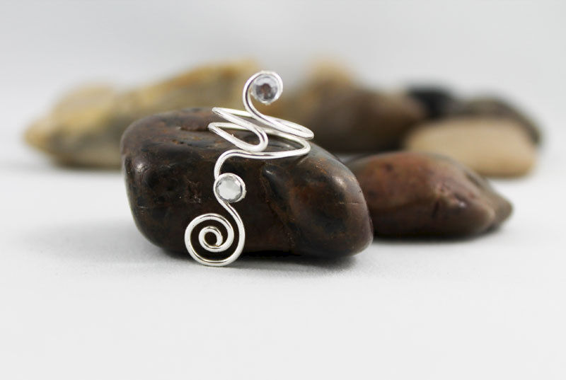 Spiral Swirl Adjustable Knuckle Ring TRS103 - product images  of