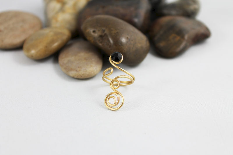 Gold Wire Wrapped Adjustable Toe Ring  - product images  of