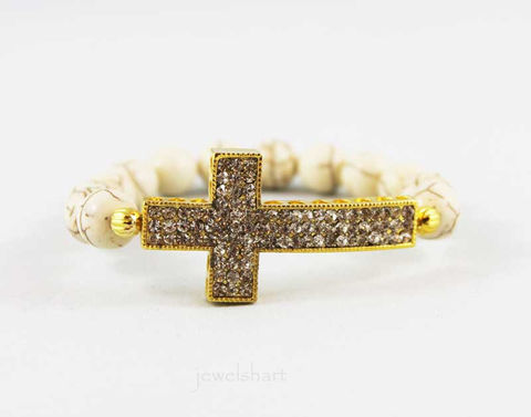 Turquoise,Rhinestone,Sideway,Cross,Bracelet,Jewelry,Beaded,sideways_cross,side_ways_cross,sideway_cross,side_way_cross,beaded_bracelet,bead_bracelet,turquoise,beaded_stretch,cross_bracelet,stretch_bracelet,stretchy_bracelet,religious_bracelet,religious_jewelry,gold plated cross,e
