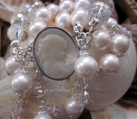 Three,Strand,Pearl,Cameo,Bracelet,Jewelry,Shell,pearl_cuff,cameo_bracelet,pearl_bracelet,crystal_cuff,bridal_jewelry,cameo_clasp,bridal_bracelet,crystal_pearl,stretch_bracelet,cameo_jewelry,cameo_pearl_bracelet,3_strand_bracelet,gift_idea,mother of pearl,crystal beads,cameo