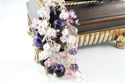 Purple,Agate,Swarovski,Crystal,Charm,Bracelet,Jewelry,Charm_Bracelet,charm_bracelet,purple_agate,cluster_bracelet,jangle_bracelet,beaded_cluster,pearl_cluster,purple_bracelet,gift_idea,for_her,crystal_charm,gemstone_bracelet,pearl_bracelet,crystal_bracelt,crystal beads,swarovski crystal,moth