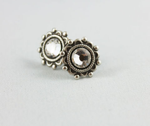 Crystal,Silver,Stud,Earrings,Jewelry,Post,stud_earrings,oxidized_silver,post_earrings,silver_studs,blue_studs,blue_earrings,silver_stud_earings,silver_stud,stud_earings,small_earring_stud,crystal_stud,silver_earrings,womens_post_earrings,oxidized silver brass,crystal