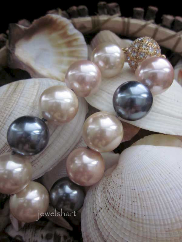 Hand Knotted Large Pearl Bracelet - product images  of
