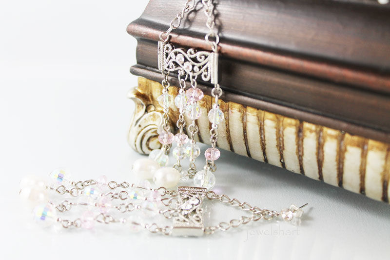 Edwardian Crystal Chandelier Earrings - product images  of