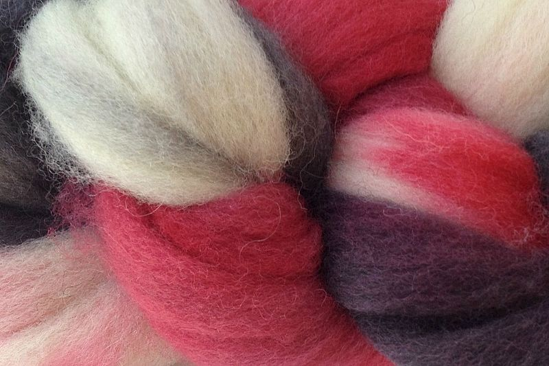 Lucky Draw Hand Dyed Wool Roving - product image