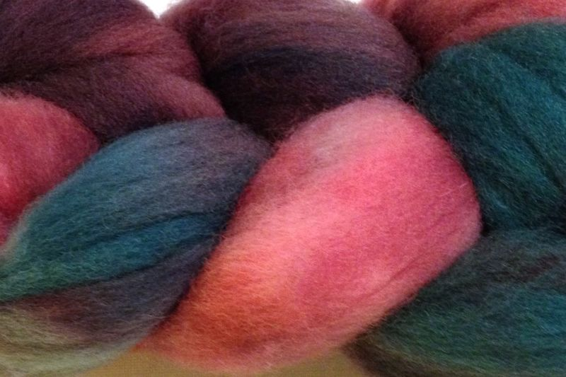 Desert Cactus Hand Dyed Wool Roving - product image
