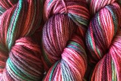 Desert,Cactus,Hand,Dyed,Merino,Wool,Yarn,DK,/,Sport,Weight,Hand Dyed Merino Wool Yarn DK / Sport Pink and Green