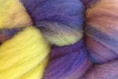 Autumn,Hydrangea,Hand,Dyed,Wool,Roving,Wool Roving Hand Dyed Sage Green Purple