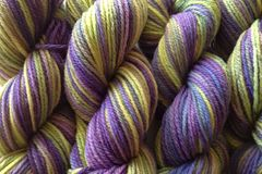 Autumn,Hydrangea,Hand,Dyed,Merino,Yarn,DK,/,Sport,Weight,Hand Dyed Merino Wool Yarn DK / Sport Purple and Green