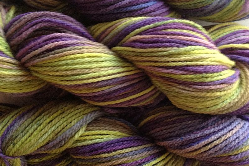 Autumn Hydrangea Hand Dyed Merino Yarn Worsted Weight - product image