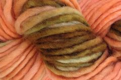 Starfish,Bay,Hand,Dyed,Wool,Pencil,Roving,Bulky Yarn Hand Dyed Coral and Brown