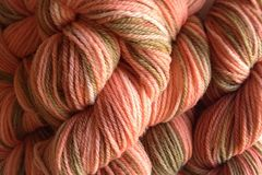 Starfish,Bay,Hand,Dyed,Merino,Wool,Yarn,DK,/,Sport,Weight,Hand Dyed Merino Wool Yarn DK / Sport Coral Orange Brown