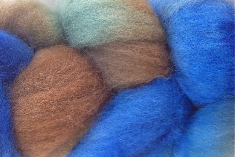 Blue Grass Hand Dyed Wool Roving - product image