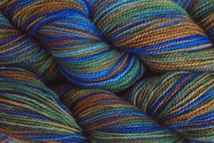 Blue,Grass,Hand,Dyed,Fingering,Weight,Merino Wool Hand Dyed Yarn, Green Blue Brown, Fingering Weight Yarn, Super Wash Sock Yarn, eweandmeyarns.com