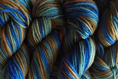 Blue,Grass,Hand,Dyed,Merino,Wool,Yarn,DK,/,Sport,Weight,Hand Dyed Merino Wool Yarn DK / Sport Green Blue Brown
