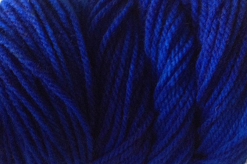 True Blue Hand Dyed Merino Wool Yarn Worsted Weight - product image