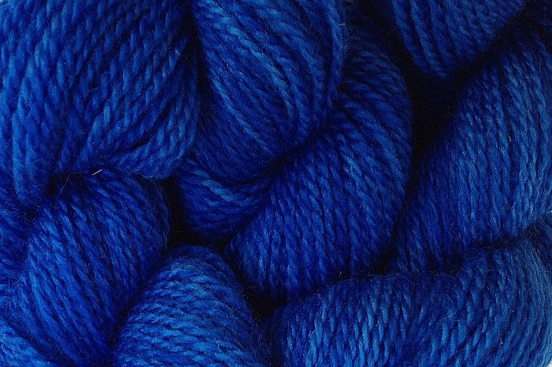 True Blue Hand Dyed Merino Wool Yarn Lace Weight - product image