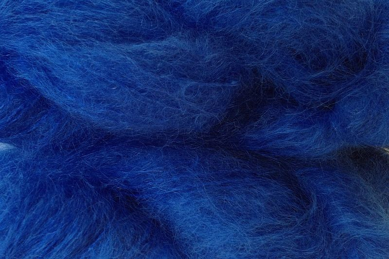 True Blue Mohair Yarn Fingering Weight - product image