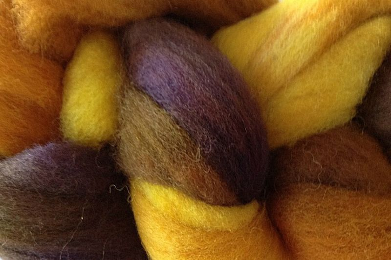 Valley Sunflower Hand Dyed Wool Roving - product image