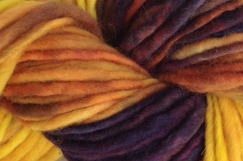 Valley Sunflower Hand Dyed Wool Pencil Roving - product image