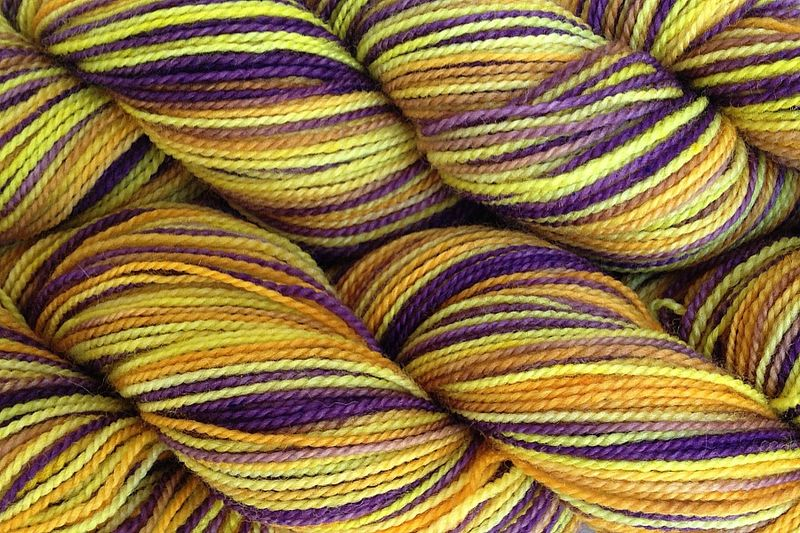 Valley Sunflower Hand Dyed Fingering Weight - product image