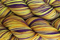 Valley,Sunflower,Hand,Dyed,Fingering,Weight,Merino Wool Hand Dyed Yarn, Yellow Orange Purple Brown, Fingering Weight Yarn, Super Wash Sock Yarn, eweandmeyarns.com