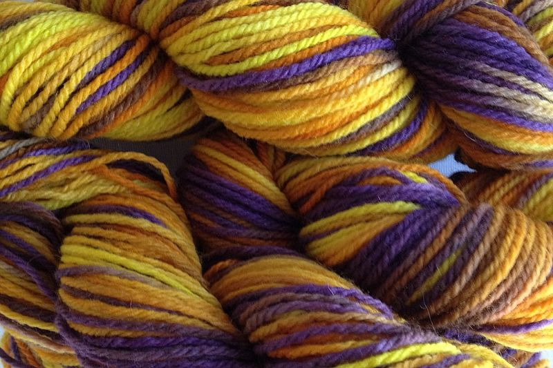 Valley Sunflower Hand Dyed Merino Yarn Worsted Weight - product image