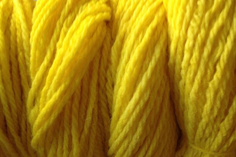 Flower Yellow Hand Dyed Merino Wool Yarn Worsted Weight - product image