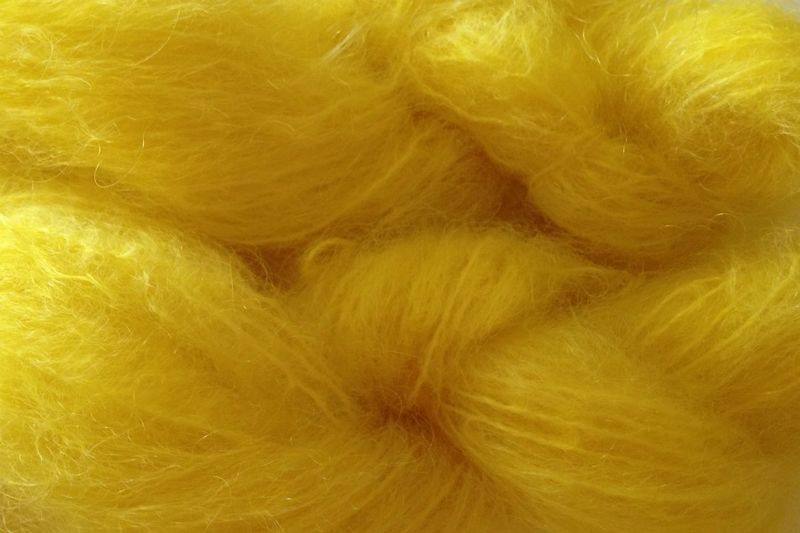 Flower Yellow Mohair Yarn Fingering Weight - product image