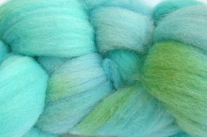 Ocean Tide Hand Dyed Wool Roving - product image