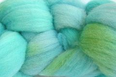 Ocean,Tide,Hand,Dyed,Wool,Roving,Wool Roving Hand Dyed Aqua Blue