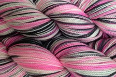 Me,Too,Hand,Dyed,Fingering,Weight,Merino Wool Hand Dyed Yarn, Pink Gray Black White, Fingering Weight Yarn, Super Wash Yarn, eweandmeyarns.com