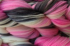 Me,Too,Hand,Dyed,Merino,Wool,Yarn,Worsted,Weight,Hand Dyed Merino Wool Yarn, Worsted Weight Pink Gray Black White