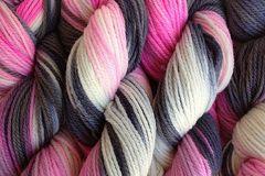 Me,Too,Hand,Dyed,Merino,Wool,Yarn,DK,/,Sport,Weight,Hand Dyed Merino Wool Yarn DK / Sport Pink Gray Black White