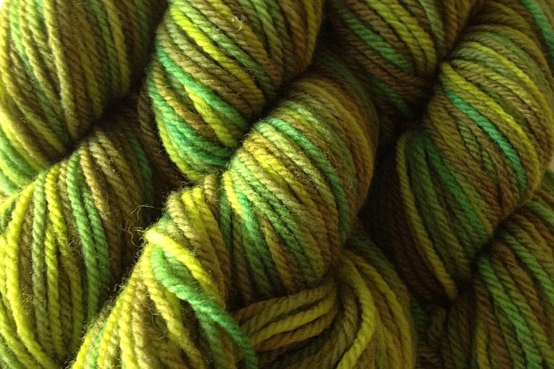 Rain Forest Hand Dyed Merino Wool Yarn DK / Sport Weight - product image