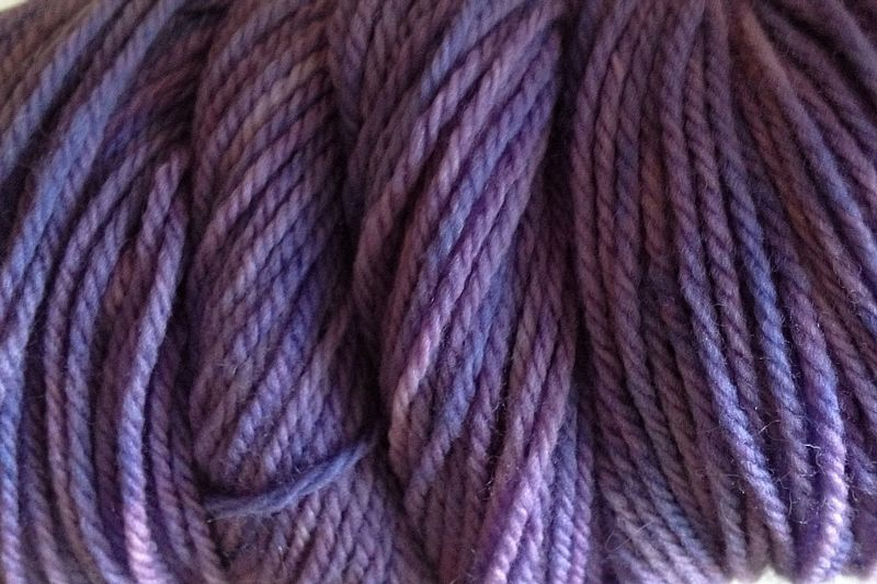 Violet Purple Hand Dyed Merino Wool Yarn Worsted Weight - product image