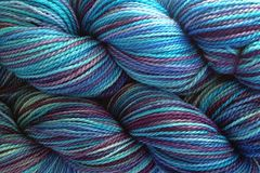 Twilight,Sky,Hand,Dyed,Fingering,Weight,Merino Wool Hand Dyed Yarn, Aqua Blue Purple, Fingering Weight Yarn, Super Wash Yarn, eweandmeyarns.com