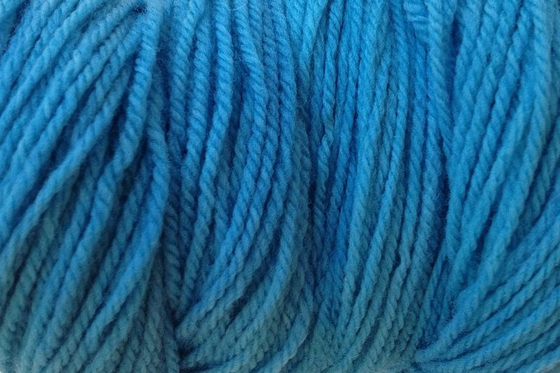 Sky Blue Hand Dyed Merino Wool Yarn Worsted Weight - product image