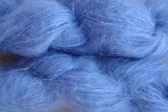 Sky,Blue,Mohair,Yarn,Fingering,Weight,Hand Dyed Mohair Yarn Fingering Weight Blue eweandmeyarns.com