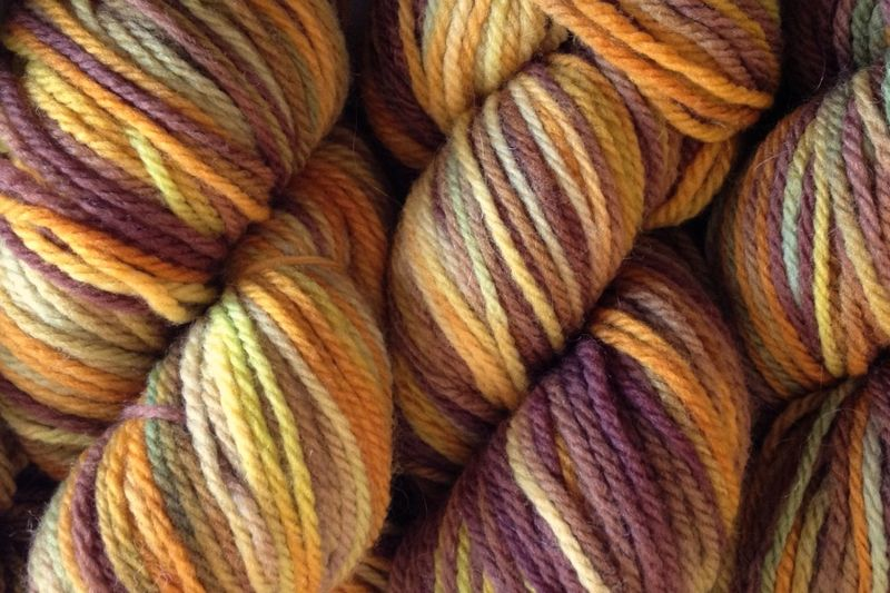 Fallen Acorn Hand Dyed Merino Wool Yarn DK / Sport Weight - product image