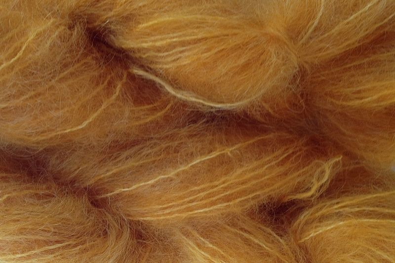 Acorn Gold Mohair Yarn Fingering Weight - product image