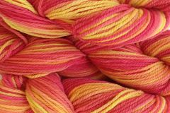 Sunset,Red,Hand,Dyed,Merino,Wool,Worsted,Weight,Hand Dyed Merino Wool Yarn Worsted Weight Yellow Orange Pink Red