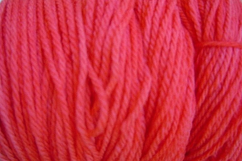 Sun Red Hand Dyed Merino Wool Yarn DK / Sport Weight - product image