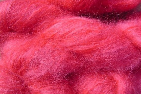 Sun Red Mohair Yarn Fingering Weight Yarn - product image
