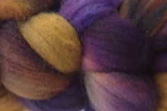 Mocha,Bean,Hand,Dyed,Wool,Roving,Wool Roving Hand Dyed Brown Purple