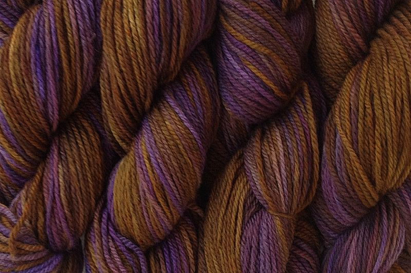 Mocha Bean Hand Dyed Merino Wool Yarn DK / Sport Weight - product image
