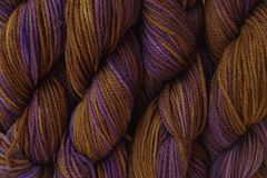 Mocha,Bean,Hand,Dyed,Merino,Wool,Yarn,DK,/,Sport,Weight,Hand Dyed Merino Wool Yarn DK / Sport Brown Purple